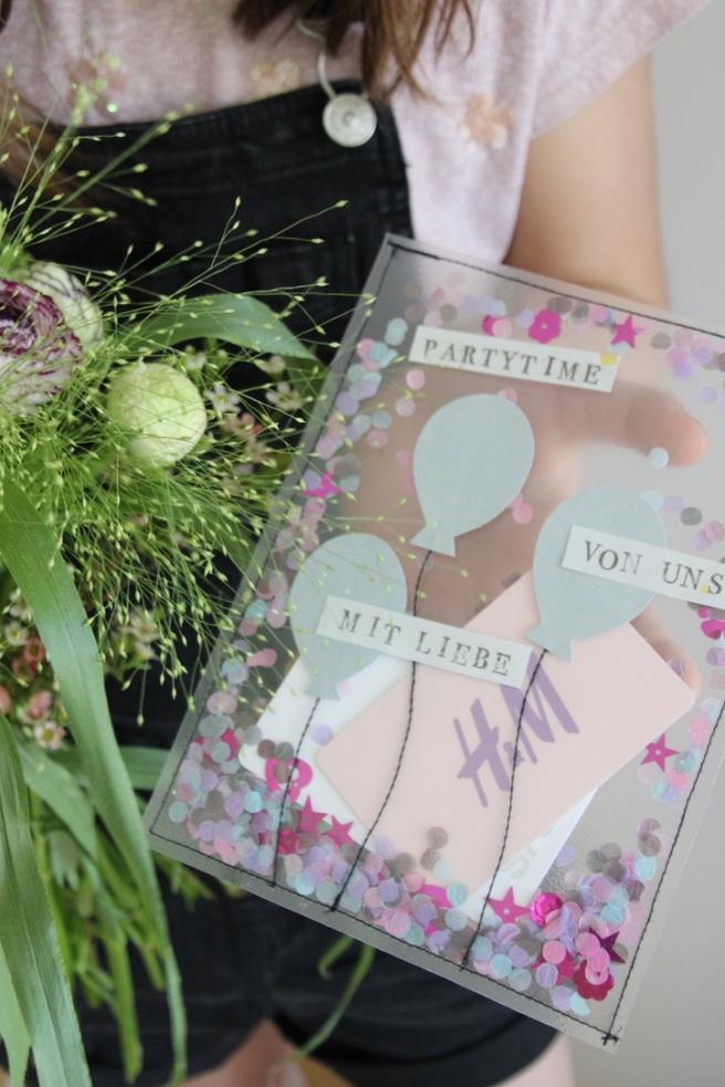Schütteltüte DIY Gutscheine Geschenkverpackung