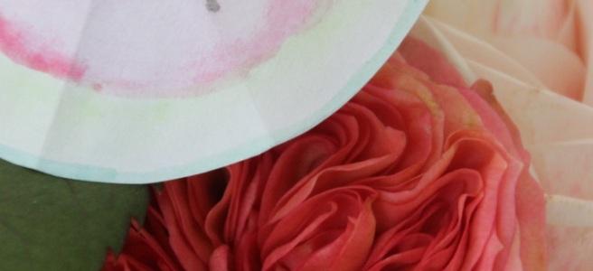 Melonenschirmchen Wasserfarben Sommerparty