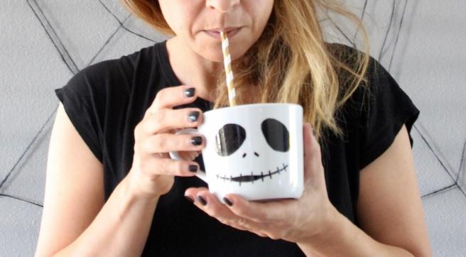 Halloween Deko Geister Tasse Porzellanstift