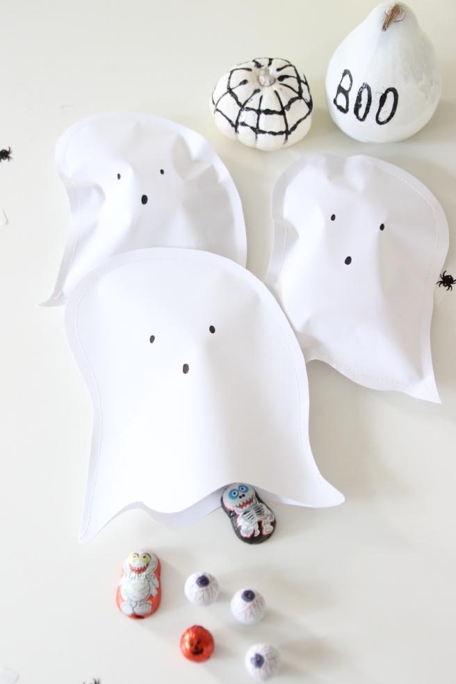 Halloween Deko Geister Papier
