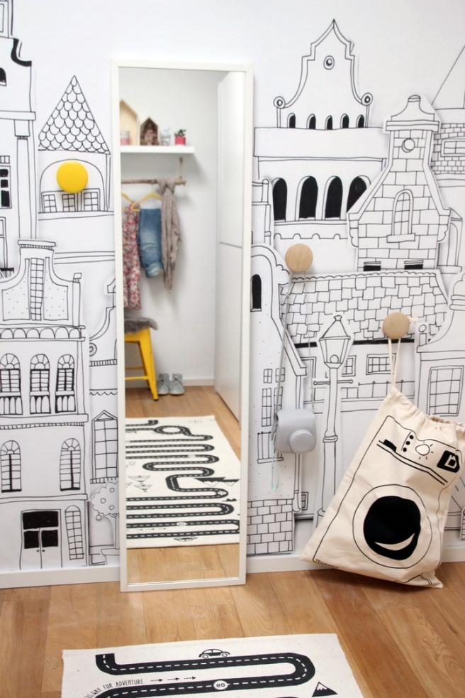 Rebel Walls Fototapete Ankleidezimmer Kinder Moodboard