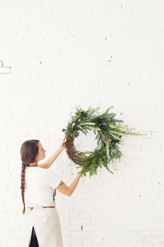 florale Kränze Weihnachten