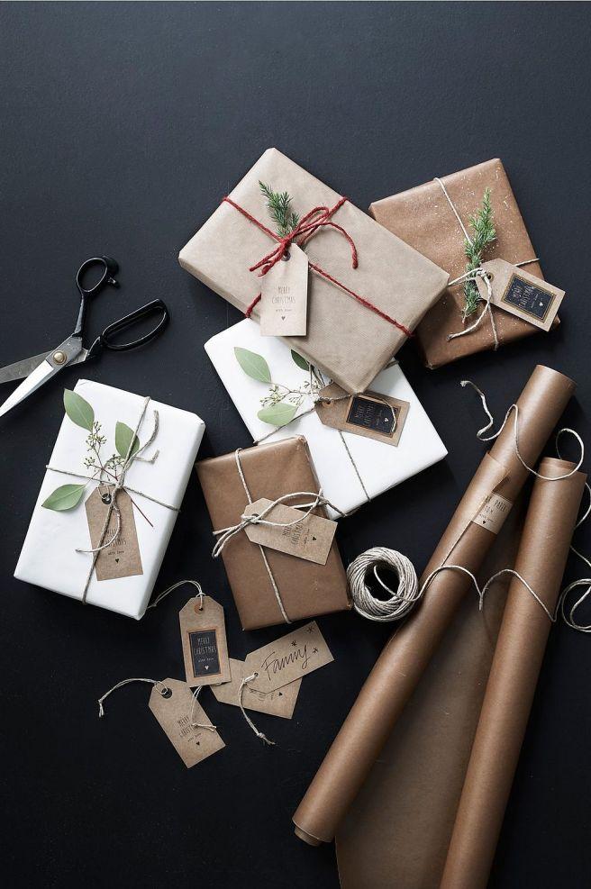 Weihnachtsgeschenke verpacken mit Packpapier - Die schönsten Ideen